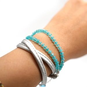 CatstoneNYC Aquamarine Crystal Bracelet